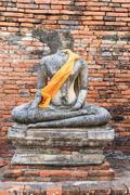 Buddha statue in ayuthaya Stock Photos