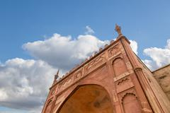 agra red fort - stock photo