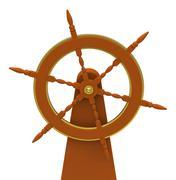 the rudder - stock illustration
