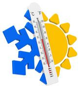 Stock Illustration of the temperatures