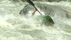 Wildwater canoeing man 12 Stock Footage