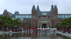 Netherlands national museum called Rijksmuseum Stock Footage