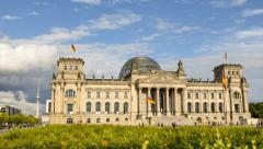 Berlin german bundestag time lapse pan 11431 Stock Footage
