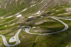 Grossglocker alpine road Stock Photos