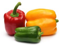 Stock Photo of fresh capsicums