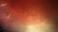 Close Up Fireworks WITH SOUND Stock Footage
