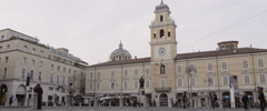 Parma main square with people walking 4K Stock Footage