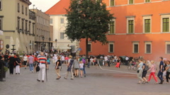 The Royal Castle  in the old town of Warsaw, close-up, historical buildings Stock Footage