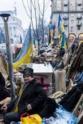 Ukraine - maidan: birth of a civil society 21st dec 2013 Stock Photos