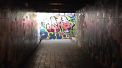Graphitti Tunnel 720.mp4 Stock Footage
