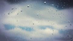 Rainy days,Rain drops on window,rainy weather,rain background, Stock Footage