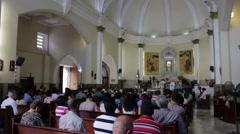 Mass in Santo Domingo, Dominican Republic Stock Footage