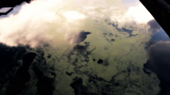 Toxic pollution on water river Stock Footage