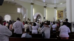 Catholic Worship Service in Santo Domingo Stock Footage