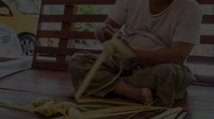 Ketupat Weaving Time Lapse Stock Footage