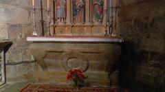 Interior of Santiago de Compostela cathedral: Capilla del Pilar Stock Footage