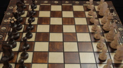 Chess. A man and a woman. Party. The first move. Rivals. Stock Footage