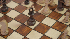 Chess. The checkmate. The defeat. White wins. ver. II Stock Footage