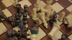 Chess. The game is finished. To remove pieces from the chessboard. Chess Board. Stock Footage