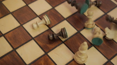 Chess. Falling chess pieces. Stock Footage