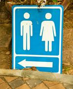 Male and female toilets sign. Stock Photos