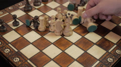 Chess. New game. The new party. The location of the chess pieces. Stock Footage