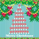 Abstract card with christmas tree Stock Illustration