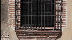 Window with Bars Stock Footage