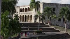 Stock Video Footage of Alcazar De Colon, Santo Domingo