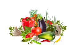 vegetables greengrocery - stock illustration