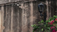 Lamp and Wall in Santo Domingo Stock Footage