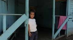 Poor Boy in the Dominican Republic Stock Footage