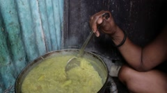 Cooking Food in Dominican Republic - stock footage