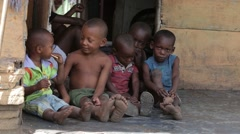 Children of Poverty - stock footage