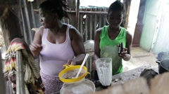 Preparing Food in the Dominican Republic - stock footage