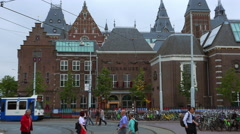 Amsterdam The National Museum of the Netherlands Stock Footage