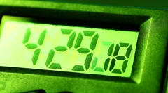 Digital Clock Stock Footage