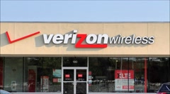 Verizon Wireless storefront Stock Footage