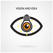 Vision and creative light bulb idea concept , eye symbol Stock Illustration