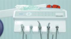 Dental instruments and appliances Stock Footage