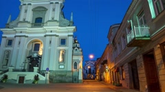 Gate Vilnius, Vilnius, Lithuania hyper time-lapse Stock Footage