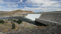 Washington Grand Coulee Dam and visitor center 4 Stock Footage