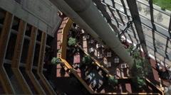 Atrium mountain resort dining room with view 4K 058 Stock Footage