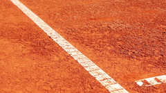 Tennis mark on clay surface Stock Footage