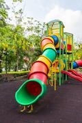 the colorful plaything in benjasiri park, bangkok, thailand - stock photo