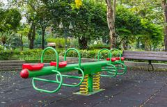 the colorful plaything in benjasiri park, bangkok - stock photo