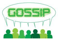 Gossip Speech Bubble - stock illustration