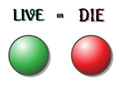 Live Or Die Buttons Stock Illustration