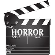 Horror Clapper Board Stock Illustration