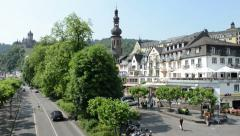 Cityscape of Cochem Stock Footage